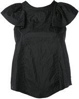 Isabel Marant ruffle sleeve top - women - Polyamide/Silk - 36