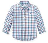 Ralph Lauren Plaid Stretch Cotton Shirt Orange Multi 6M