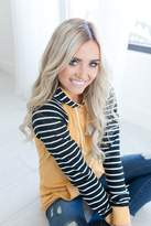 Ampersand Avenue SingleHood Sweatshirt - Mustard Stripe