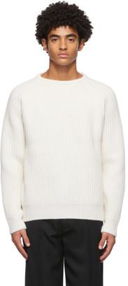 Haider Ackermann White Wool Ribbed Sweater