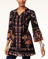 Style&Co. Style & Co Printed Peasant Tunic, Created for Macy's
