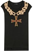 Dolce & Gabbana Embellished Cotton T-shirt