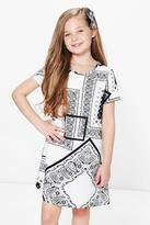 Boohoo Girls Paisley Print Shift Dress