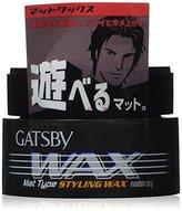 Gatsby Mandom Mat Type Styling Wax 80g
