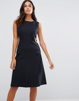 YMC Cut Away Sides Fitted Dress