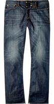 River Island MensDark blue wash Dean straight jeans