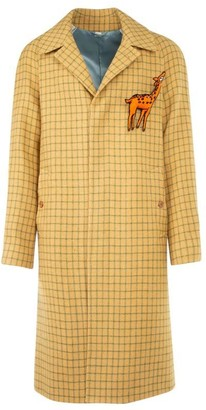 Gucci Checked Long-Line Coat