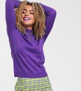 Collusion COLLUSION high neck sweater in purple
