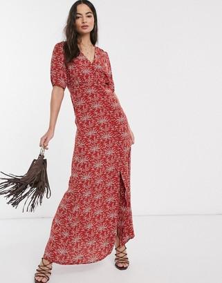 Y.A.S Jellica floral print maxi dress