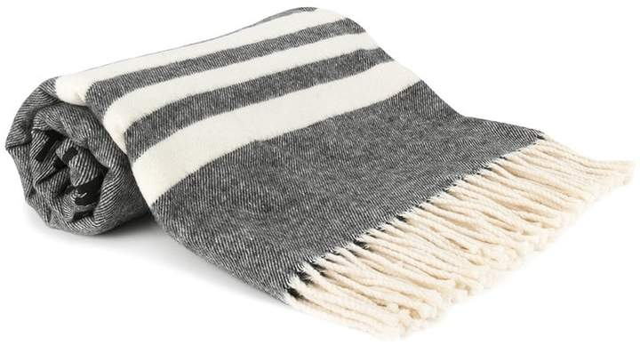 DSQUARED2 striped scarf with printed badge design