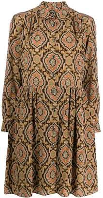 A.P.C. printed flared shirt dress
