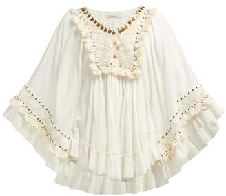Mes Demoiselles Bachata Embellished Cotton Top - Womens - Ivory