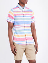 Tommy Hilfiger Multi-stripe cotton and linen-blend shirt