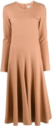 Jil Sander Woven Flare Skirt Dress