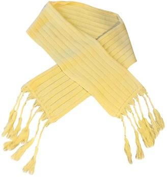 Maje Yellow Wool Scarves