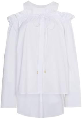 Alberta Ferretti cold shoulder frill long sleeve top