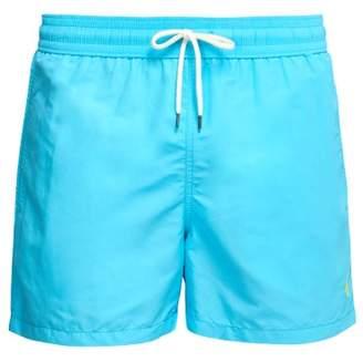 Polo Ralph Lauren Embroidered Logo Swim Shorts - Mens - Light Blue