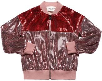 Alberta Ferretti Sequins Embellished Bomber Jacket