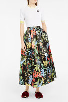 Rochas Jungle-Print Midi Skirt