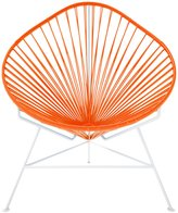 Innit Baby Acapulco Chair - Orange Weave/ White Frame