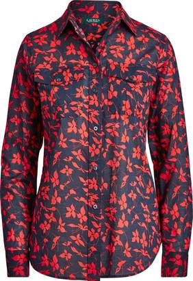 Ralph Lauren Floral Cotton Voile Shirt