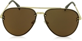 Celine MIRROR CL 41391/S J5GLC Black Acetate & Gold Metal Aviator Unisex Sunglasses