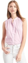 Gap Windowpane embroidery sleeveless shirt