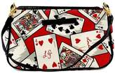 Lulu Guinness Deck of Cards Canvas & Leather Baguette