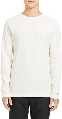 Theory Men's River Organic Waffle-Knit Raglan Sweater