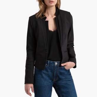 Naf Naf Short Open Blazer in Cotton Mix