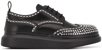 Alexander McQueen Hybrid stud-embellished Derby shoes