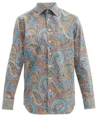 Etro Paisley-print Cotton-blend Shirt - Blue Multi