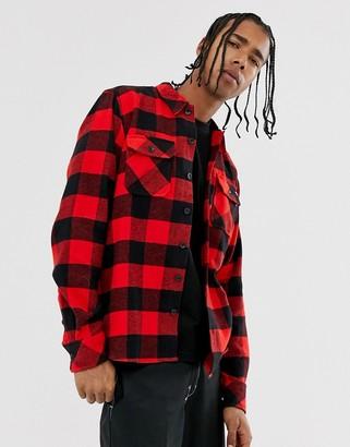 Dickies Sacramento long sleeve check shirt in red