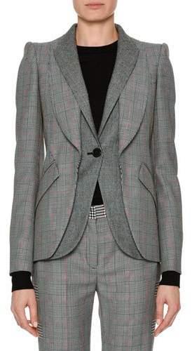 Alexander McQueen Patchwork Houndstooth Jacket