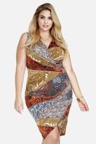 Fashion to Figure Lula Paisley Asymmetric Dress