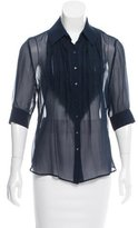 L'Agence Tiered Silk Blouse