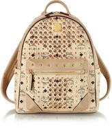 MCM Beige Small Diamond Visetos Backpack