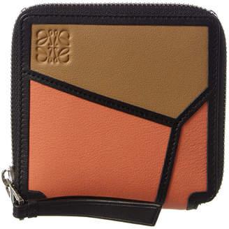 Loewe Puzzle Square Leather Zip Around Wallet