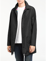 Ps By Paul Smith Long Reversible Coach Jacket, Black