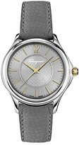 Salvatore Ferragamo Women's 'Time' Swiss Quartz Stainless Steel and Leather Casual Watch, Color:Grey (Model: FFV010016)