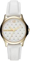 Armani Exchange A X Watch, Women's White Leather Strap 36mm AX5207