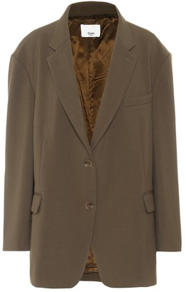 Frankie Shop Bea single-breasted twill blazer