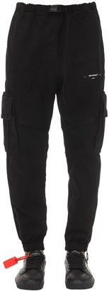 Off-White Off White Parachute Cotton Cargo Pants
