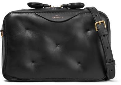 Anya Hindmarch Chubby Leather Shoulder Bag - Black
