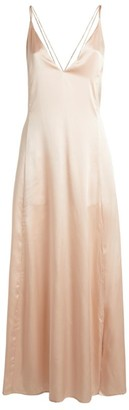 SLEEPING WITH JACQUES Silk Satin Freudian Slip Dress