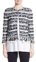 St. John Women's Adel Stripe Fringe Jacket