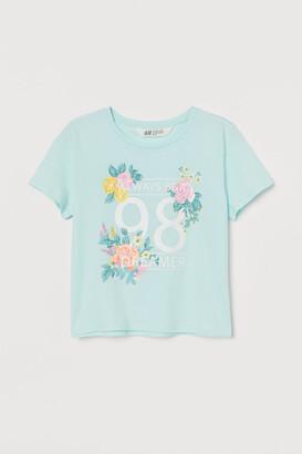 H&M Boxy T-shirt - Green