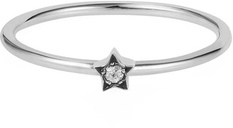 Lee Renee Tiny Star Ring White Sapphire & Silver