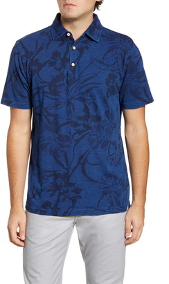 Peter Millar Seaside Print Cotton Polo Shirt
