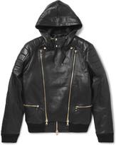 Balmain - Panelled Leather Bomber Jacket